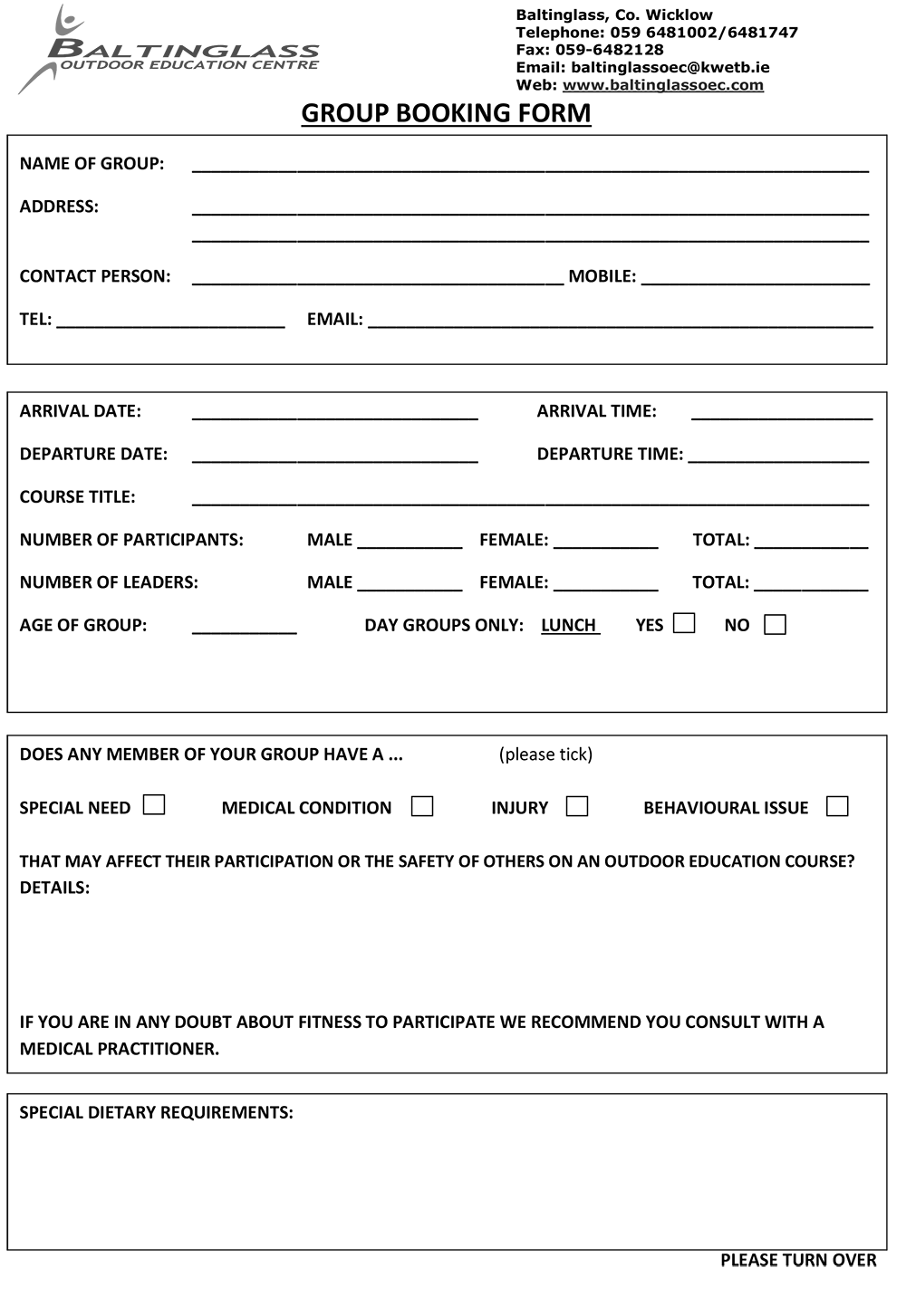 Group booking form baltinglass outdoor education center click image to download thecheapjerseys Choice Image